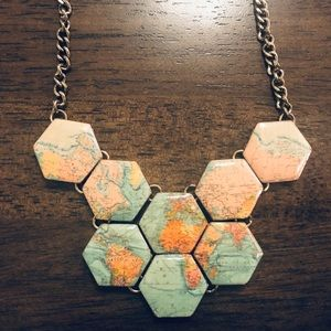 Modcloth Map Necklace